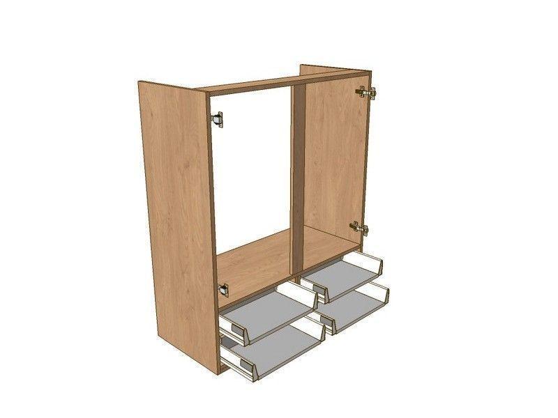 Porter gloss white 800mm boiler dresser unit 4 drawer to for 800 kitchen drawer unit
