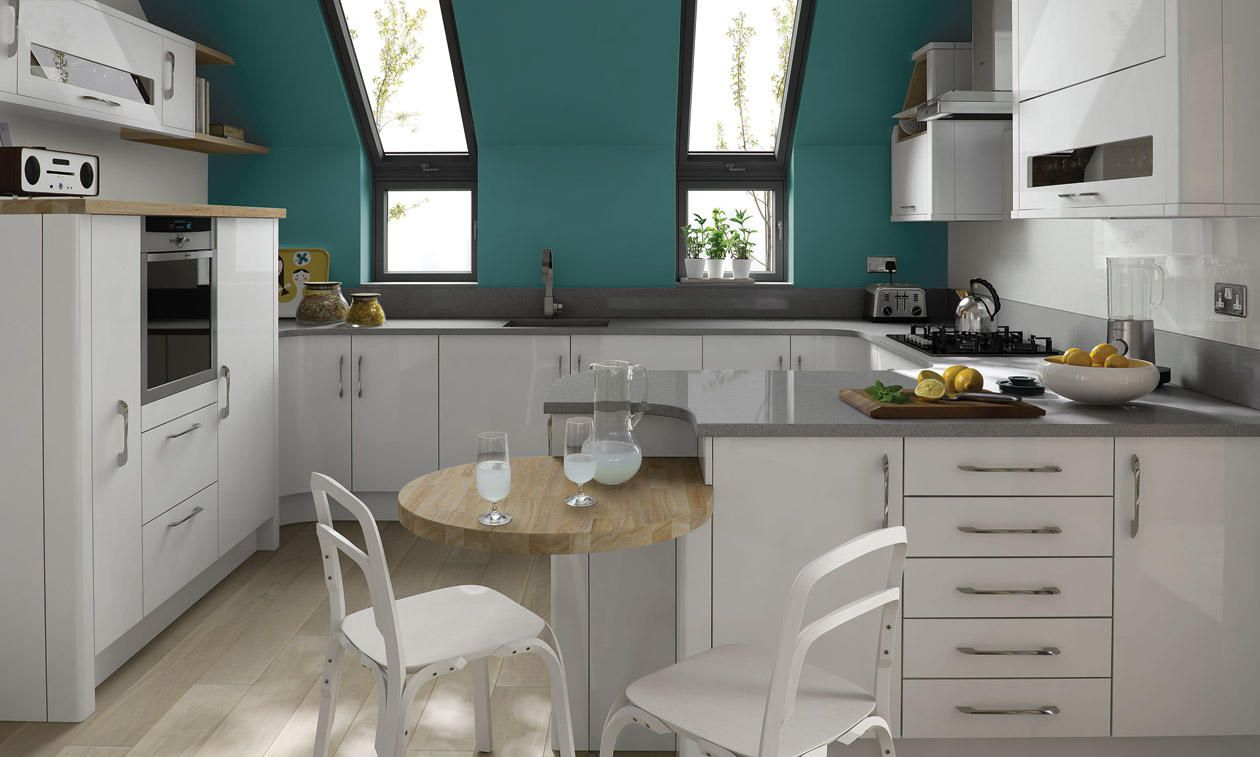 Porter gloss white kitchens at trade prices trade save for White gloss tall kitchen units