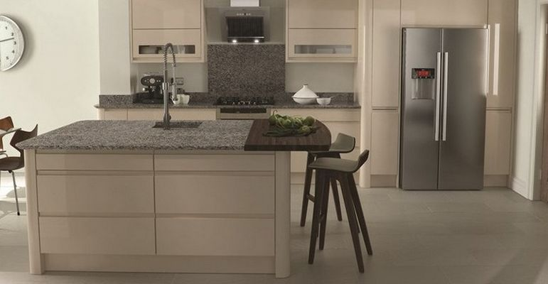 Beige Gloss Kitchen Doors at Discount Prices  Trade Save Kitchens