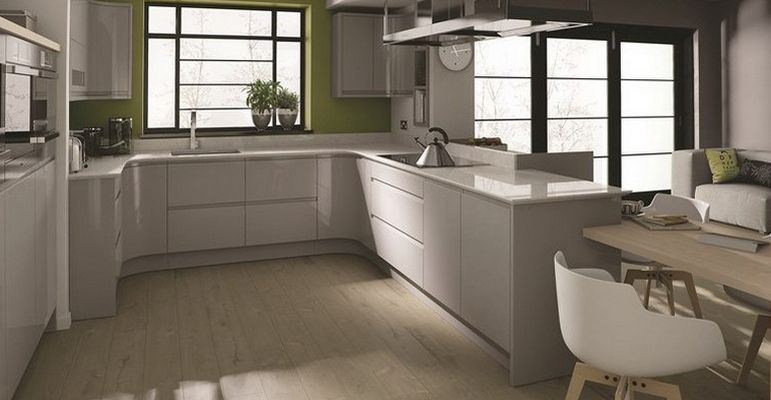 Remo Gloss Dove Grey High Gloss Kitchen Doors At Discount