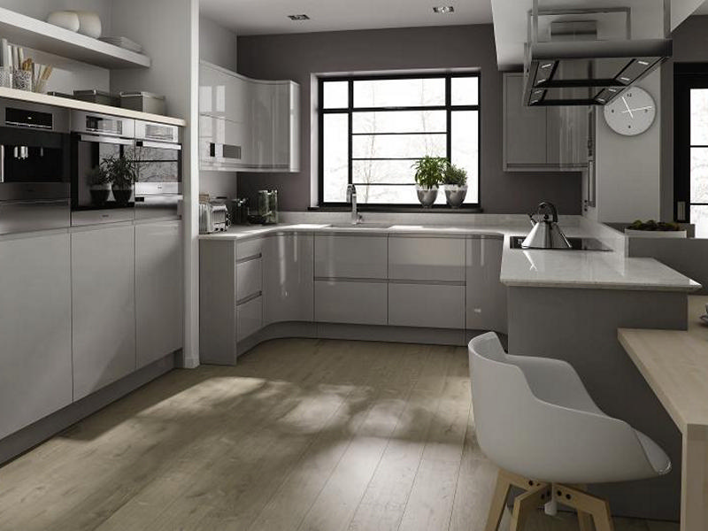 Remo gloss dove grey high gloss kitchen doors at discount prices