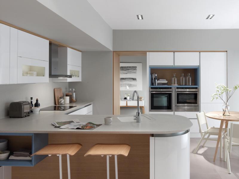 Tomba Gloss White Handleless Kitchen Doors At Discount