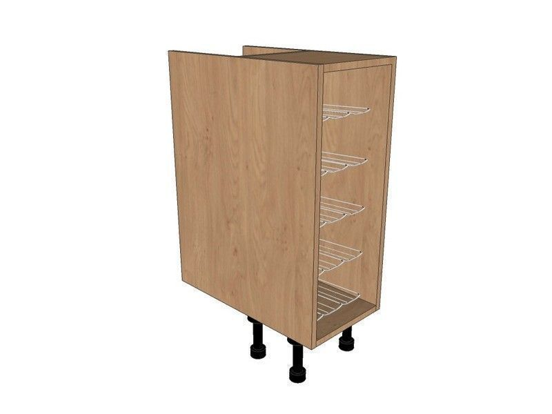 Tomba Matt Paint To Order 300mm Base Unit With Chrome Wine Rack