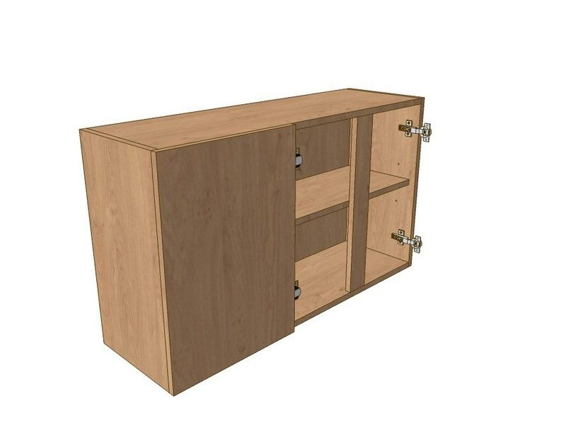 900mm Corner Wall Unit 2 Door 300mm LH Blank 575mm High
