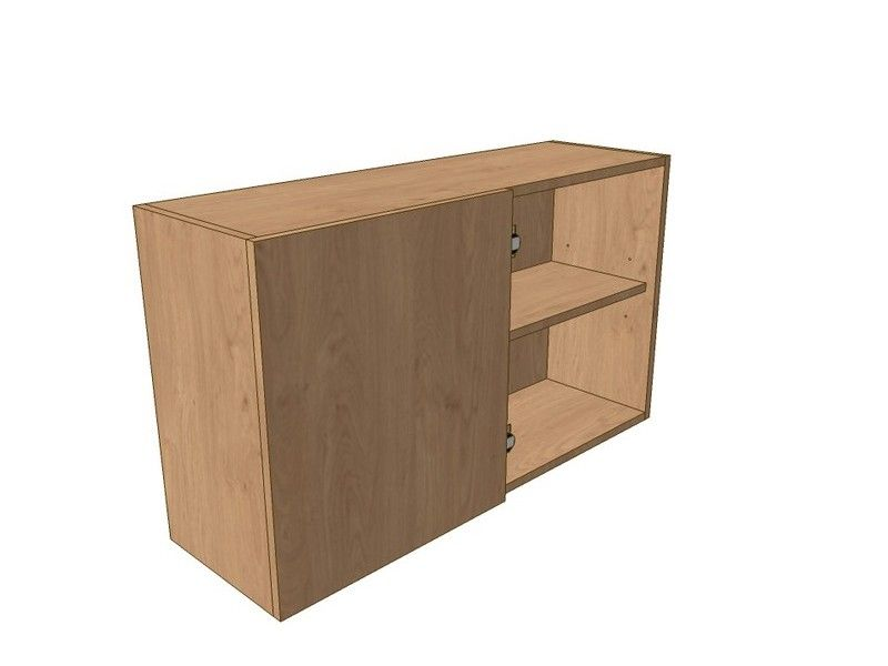 800mm Corner Wall Unit 400mm LH Blank 575mm High