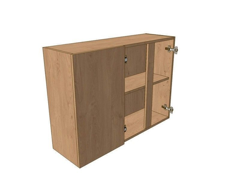 900mm Corner Wall Unit 2 Door 300mm LH Blank 720mm High
