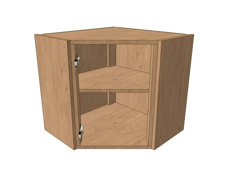 600mm*600mm Angled Corner Wall Unit 575mm High
