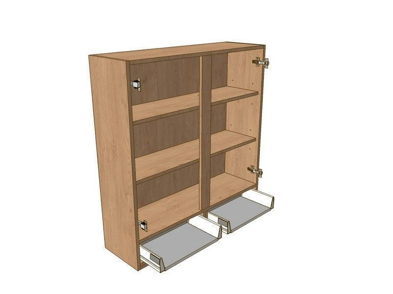 800mm Dresser Unit 2 Drawer To Suit 575mm Wall Units