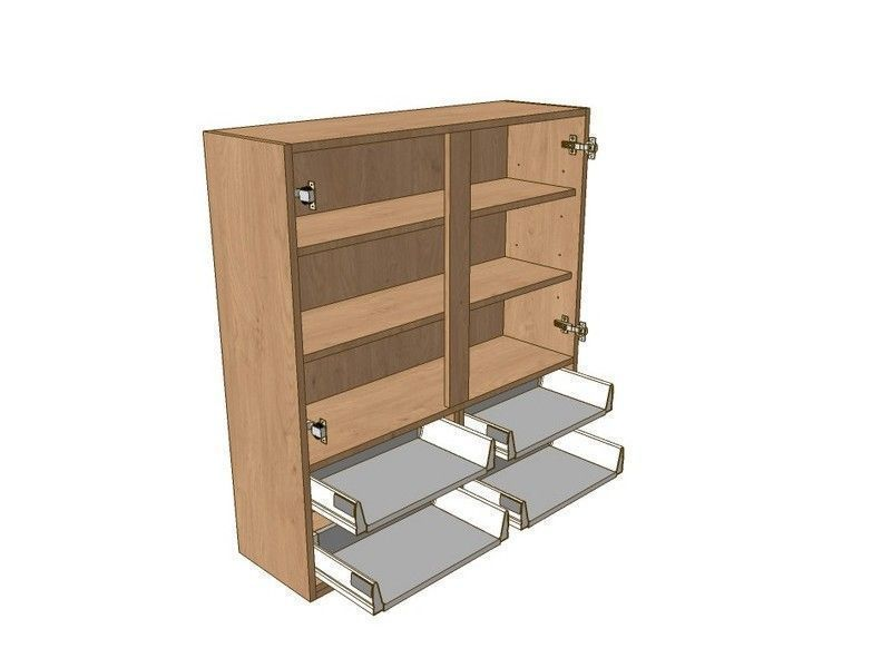 800mm Dresser Unit 4 Drawer To Suit 575mm Wall Units