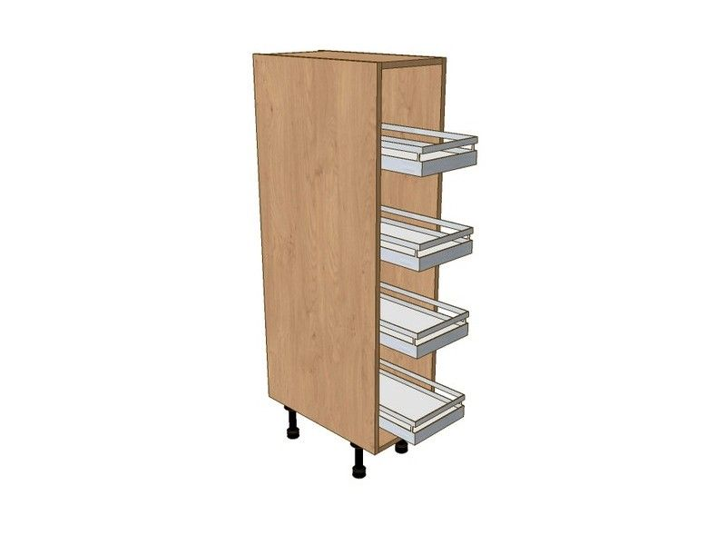 300mm Midi Pull Out Larder Unit With Classic Studio Pull Out