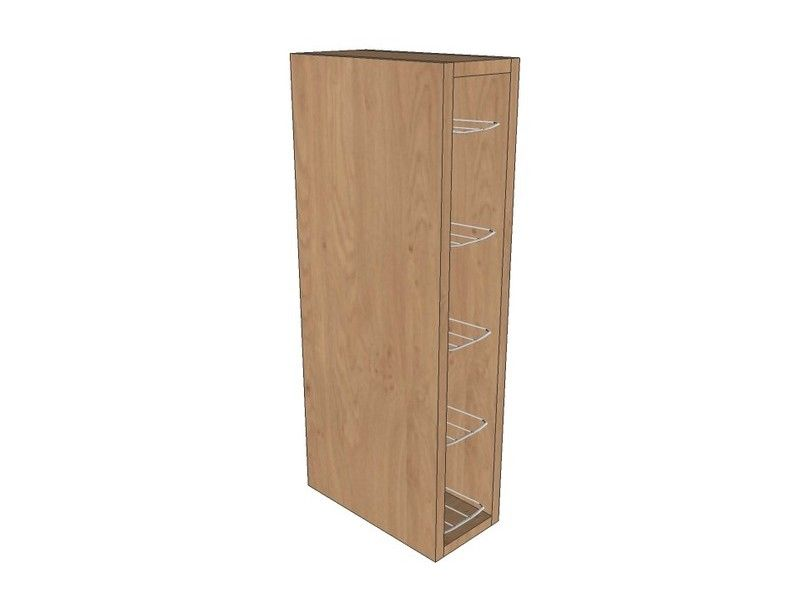 150mm Wall Unit 720mm High With Chrome Wine Rack