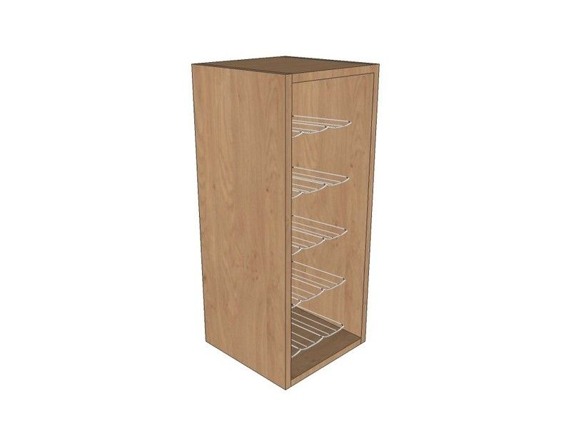 300mm Wall Unit 720mm High With Chrome Wine Rack