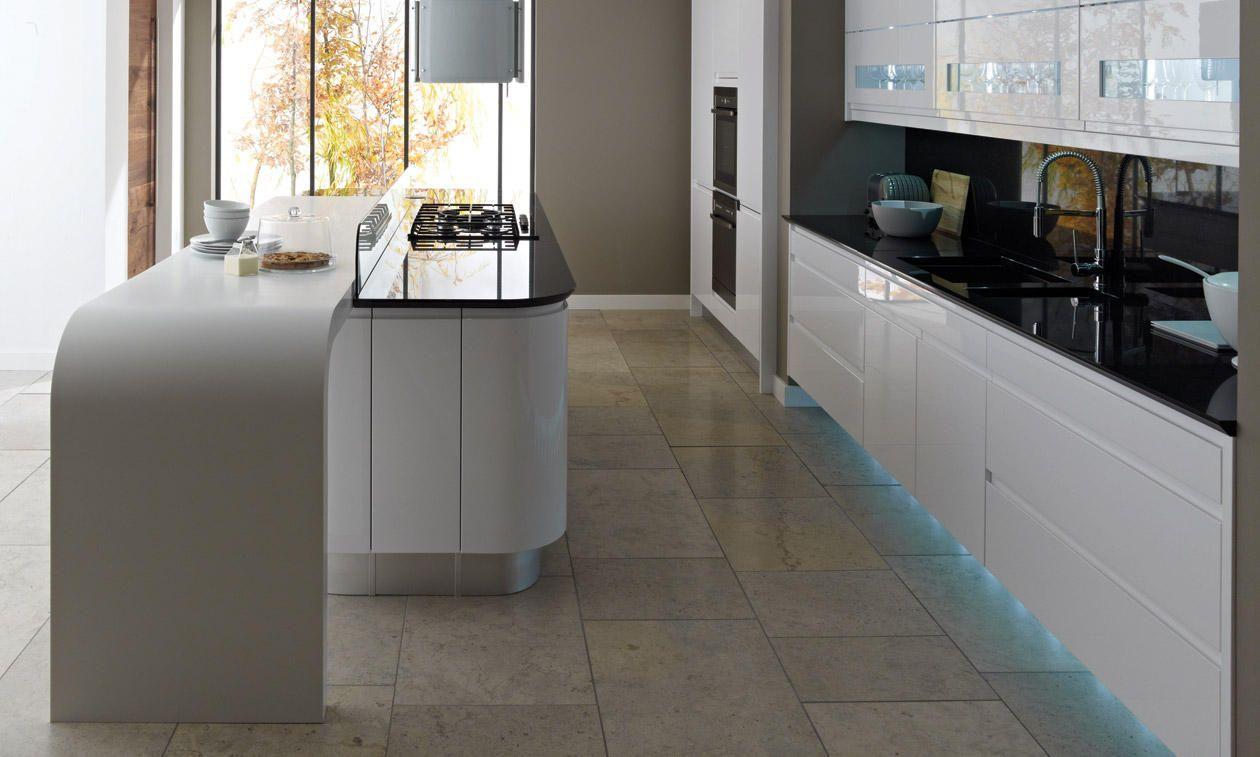 283x597mm Remo Gloss White Pan Drawer - DIY Kitchen Doors