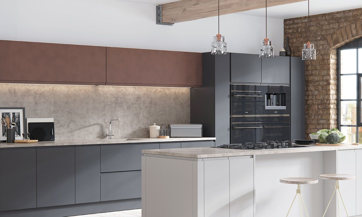 Aconbury Matt Mid Grey Kitchen
