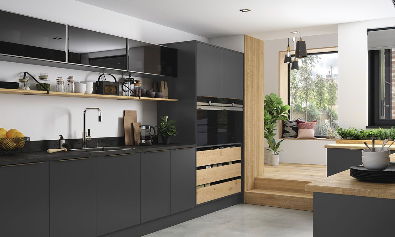 Cosdon Matt Graphite Kitchen