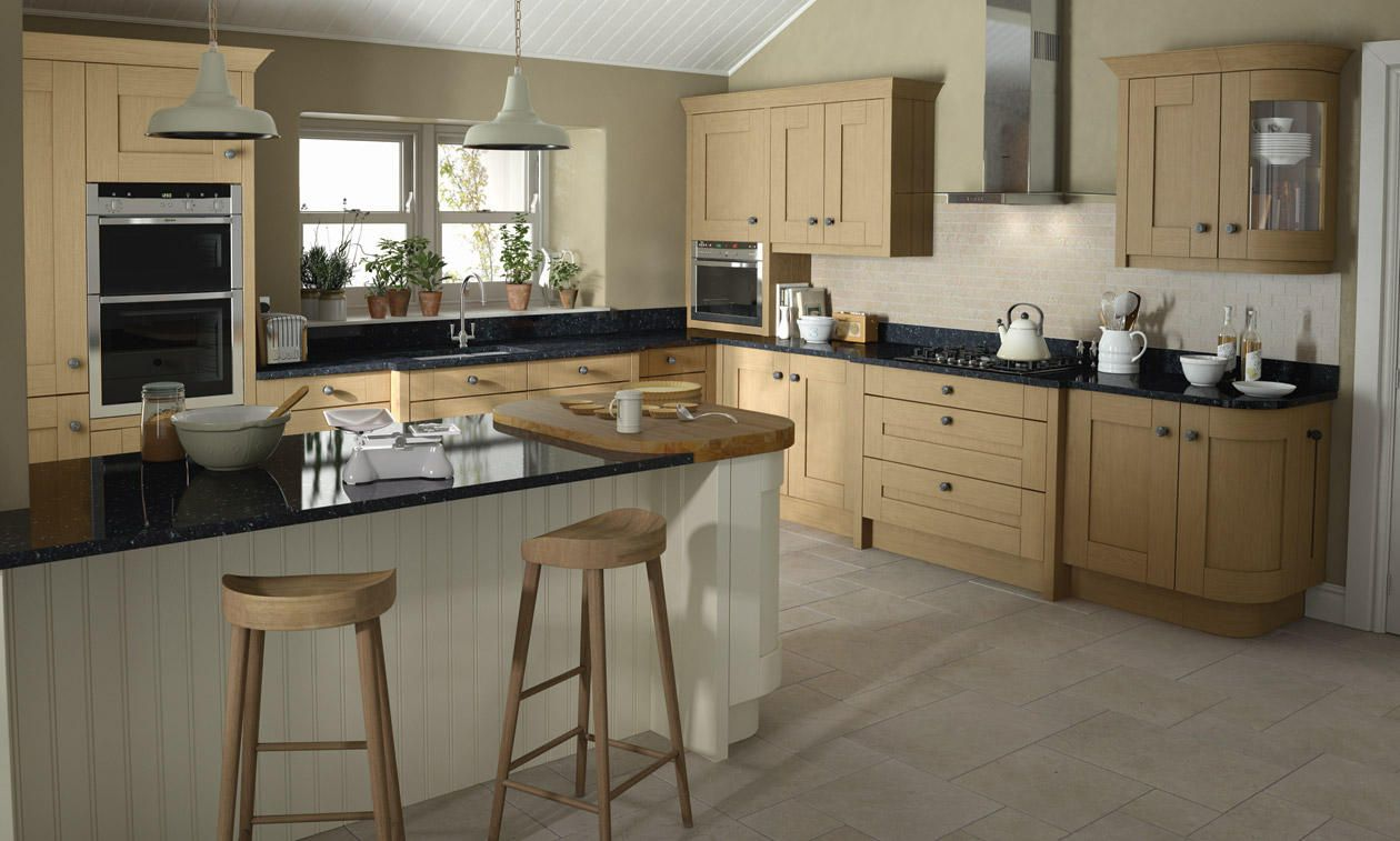 Modern Day Kitchens milbourne oak kitchens at trade prices - trade save kitchens