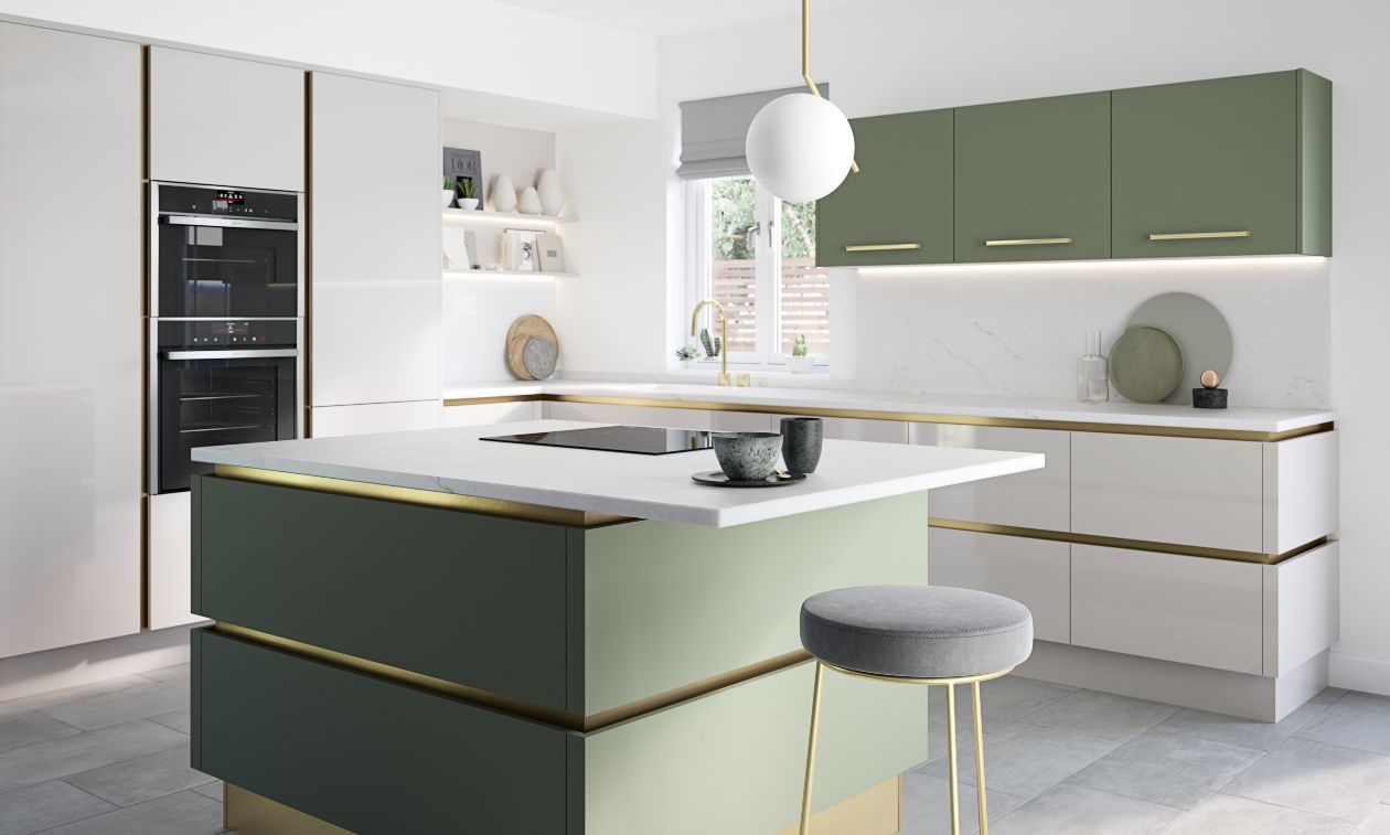 Porter True Handleless Matt White Kitchen