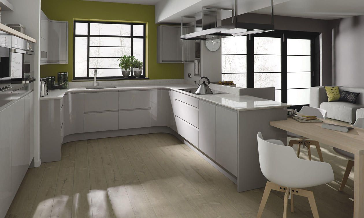 Remo Gloss Dove Grey Kitchens Amp High Gloss Kitchens