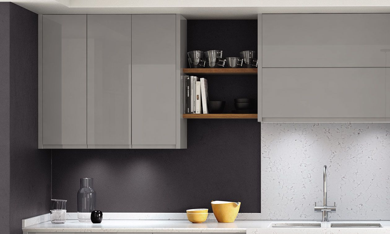 Remo Gloss Silver Grey Kitchens Amp Contemporary Kitchens