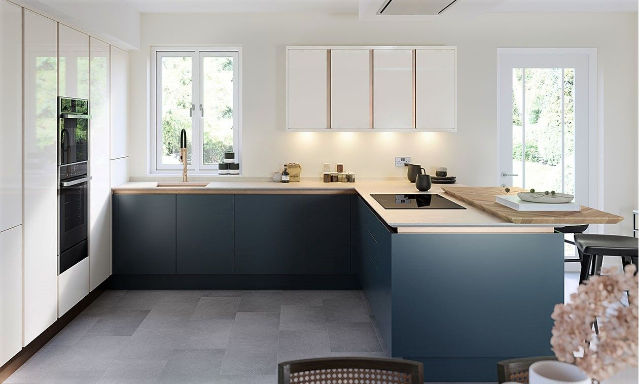 True Handleless Gloss Porcelain Kitchen