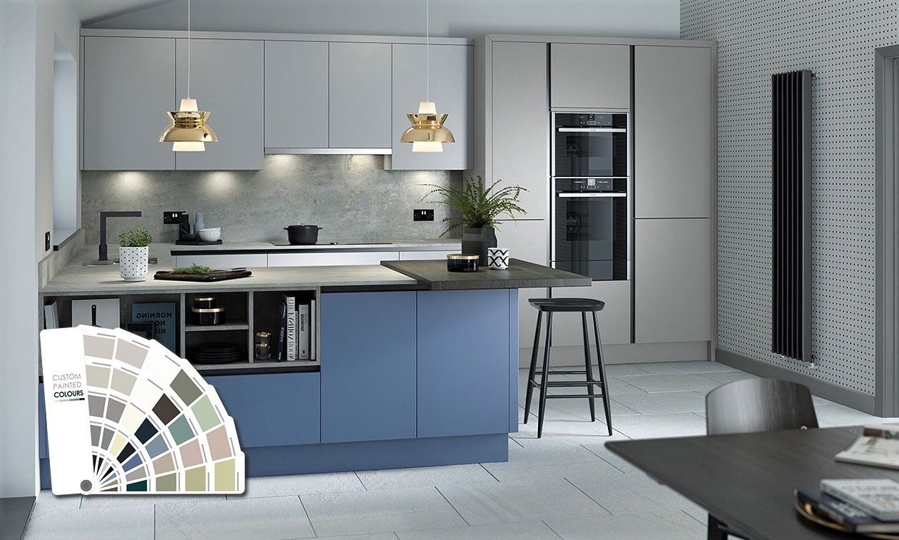 True Handleless Matt Custom Painted Kitchen