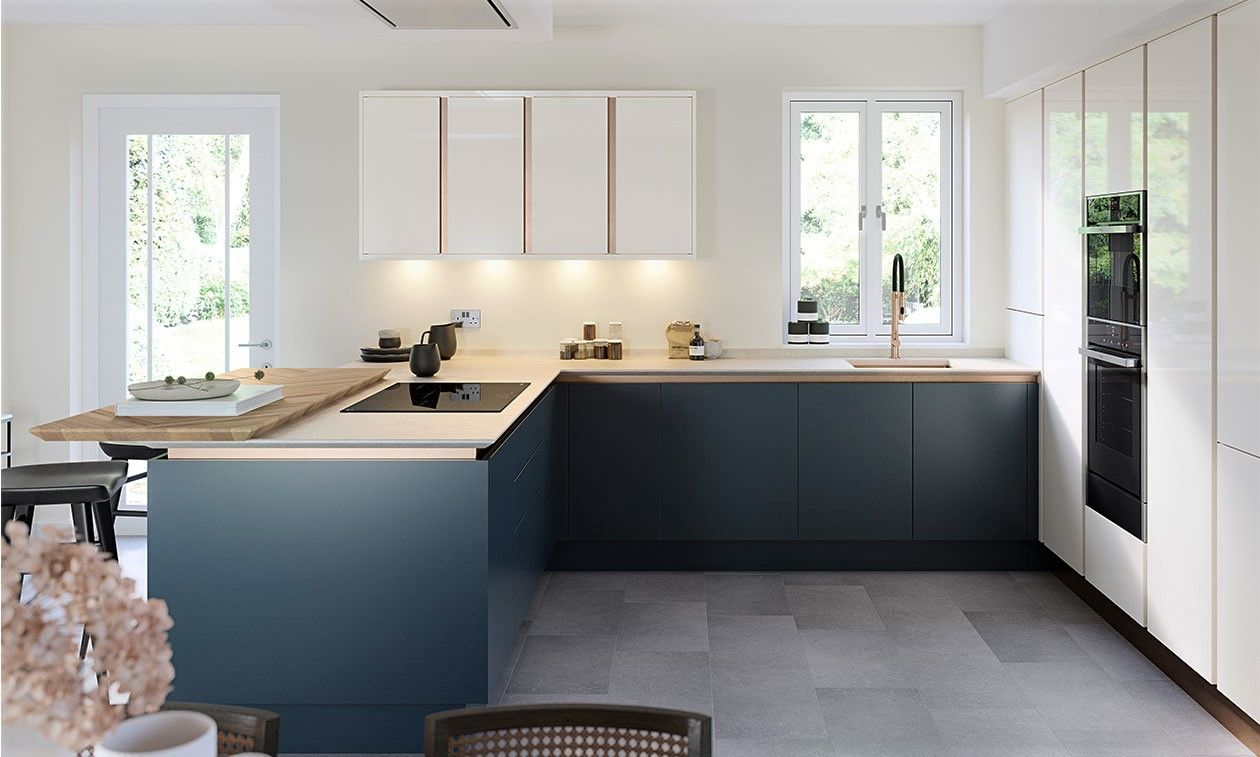 True Handleless Matt Porcelain Kitchen